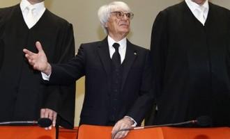 Bernie Ecclestone denies bribery in Germany trial