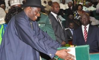 Jonathan signs 2014 budget