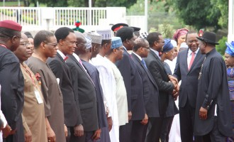 Jonathan, Kenyatta talk tough on terror