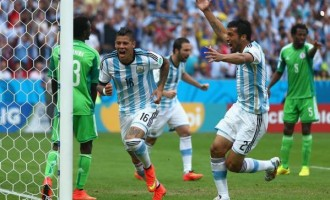 Nigeria qualify for second round despite 3-2 loss to Argentina