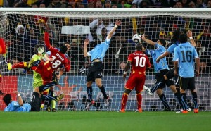 'Goalkeeper' Suarez prevents Adiyah from sending Ghana to the semis