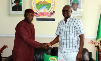 Drama as Fayemi embraces Fayose in public