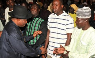 Jonathan sends relief items to Chibok