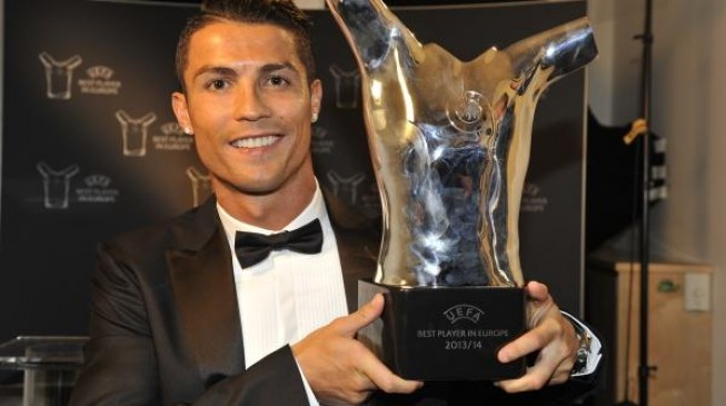 Ronaldo voted Europe's best