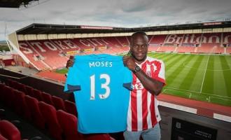 Moses joins Stoke on season-long loan deal