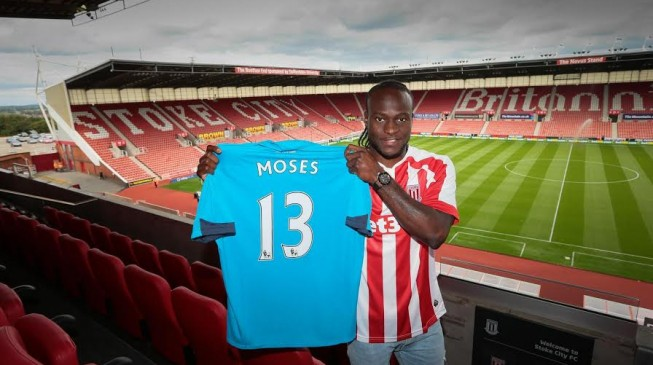 Moses joins Stoke on season-long loan deal