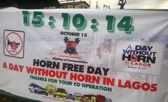 How free was horn-free day in Lagos?