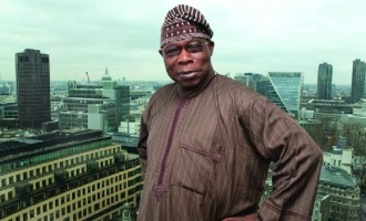 Obasanjo 'turns' bouncer, locks out mourners at mother-in-law's burial