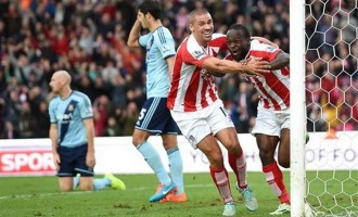 Hazard saves Chelsea, Moses scores for Stoke