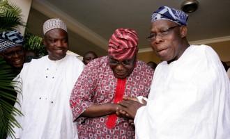 Tinubu, Atiku in separate meetings with Obasanjo