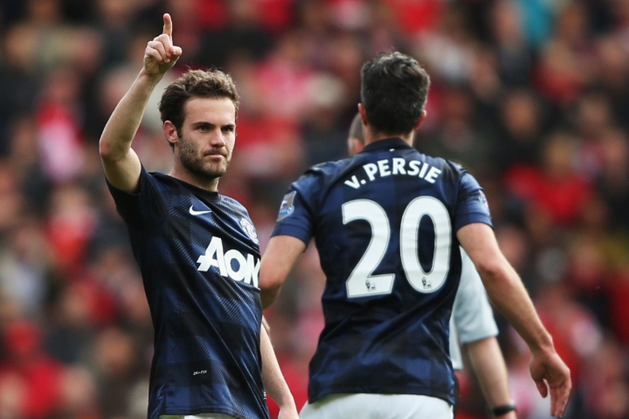 Mata scores the qualiser in the 1-1 draw at last time out at St. Mary's