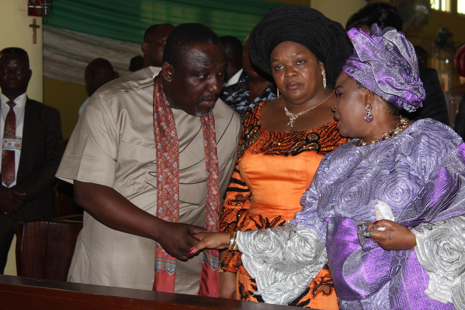 Okorocha, wife and Patience jonathan