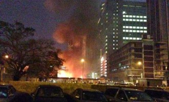 Another Lagos market razed by fire