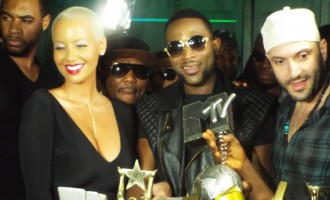 D'banj marks 10th anniversary with Amber Rose, friends