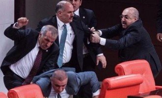 Two hospitalised after fight at Turkish parliament