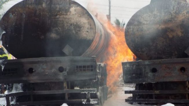 Two killed after petrol tanker explodes in Ibadan