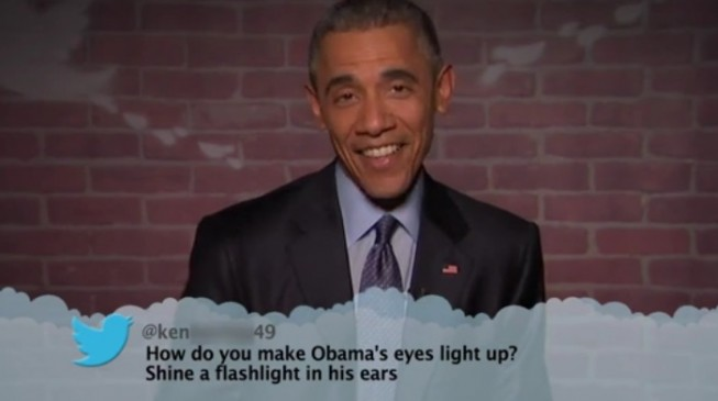Watch Obama read mean tweets about himself