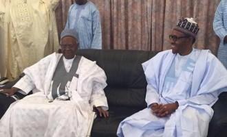Buhari pays Shagari post-90th-birthday visit