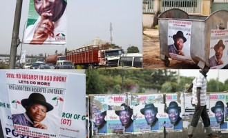 Jonathan orders removal of election campaign materials