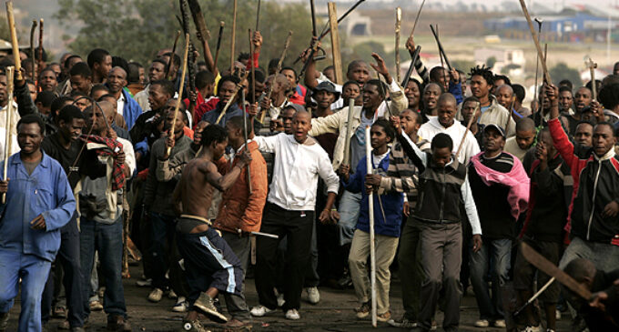 Xenophobia: S'Africans finally attack Nigerian