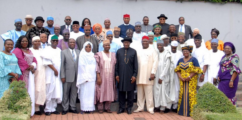 Group Photo: Valedictory Session of the Federal Executive Council, State House