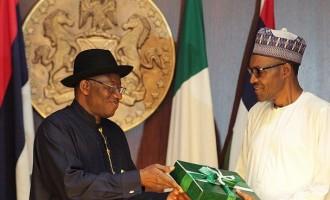 Jonathan submits handover notes to Buhari