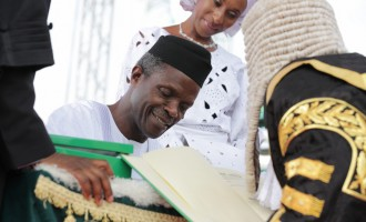 TRIBUTE: 60 cheers to Osinbajo, the pastor who beat Amaechi, Fayemi to become VP