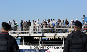 Heavily-pregnant Nigerian woman rescued from the Mediterranean Sea