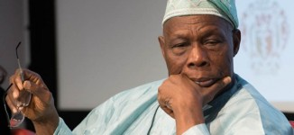 VIDEO: Obasanjo's family house gutted by fire