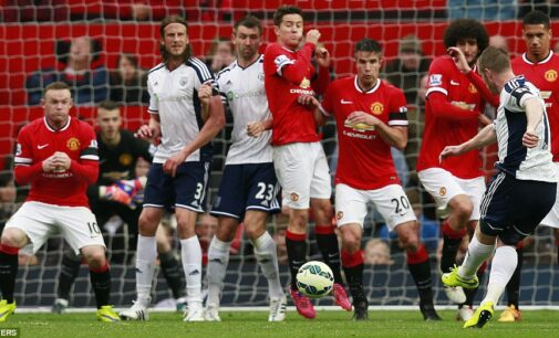 United lose to West Brom at Old Trafford