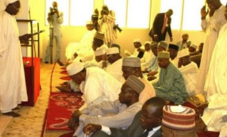 Buhari attends first Jumma'at prayer in presidential villa
