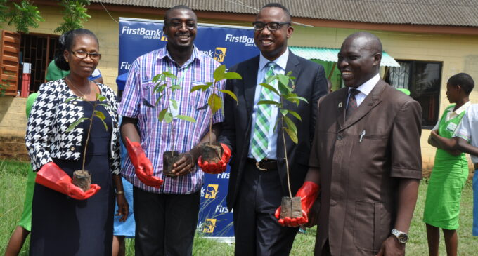 120 trees planted to celebrate 120 years of First Bank