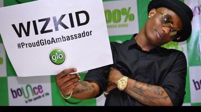 Wizkid confirms 'dumping' MTN for GLO