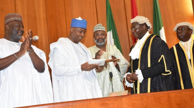 FLASHBACK: On this day in 2015, Saraki 'dribbled' APC to become senate president