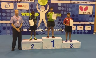 Animasahun bags silver at ITTF Hopes Challenge in China
