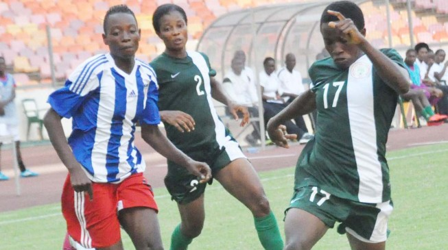 Falconets show superiority over Liberia with 7-0 win