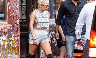 Lady Gaga goes practically naked in Amsterdam