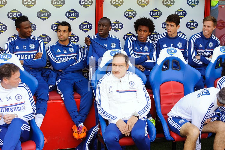 Mikel on Chelsea bench