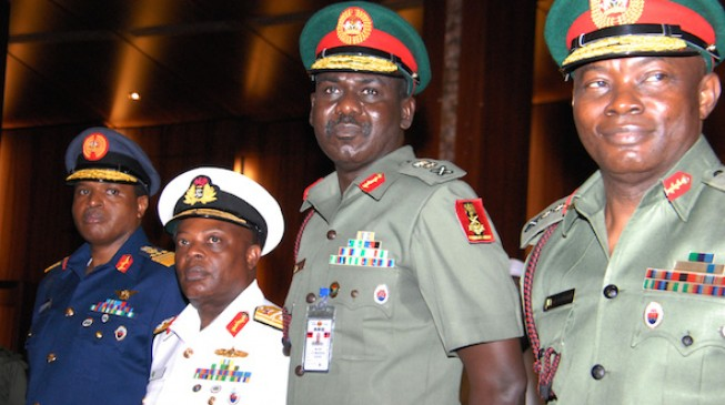 Report: Service chiefs are ALL overdue for retirement — but Buhari won't let them go