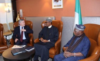 Buhari, Obasanjo meet Brown in New York