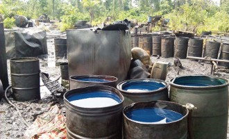 Soldiers sieze 8 boats, 2.3m litres of diesel in Rivers
