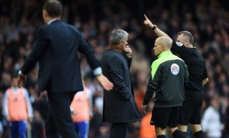 Mourinho hit with one-match stadium ban