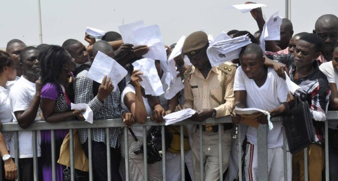 Nigeria's unemployed rises from 17.6m to 20.9m in nine months