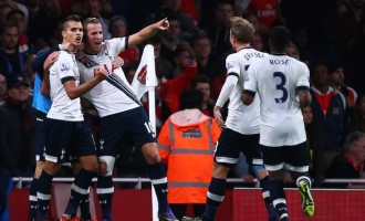 Spurs earn derby point at Arsenal
