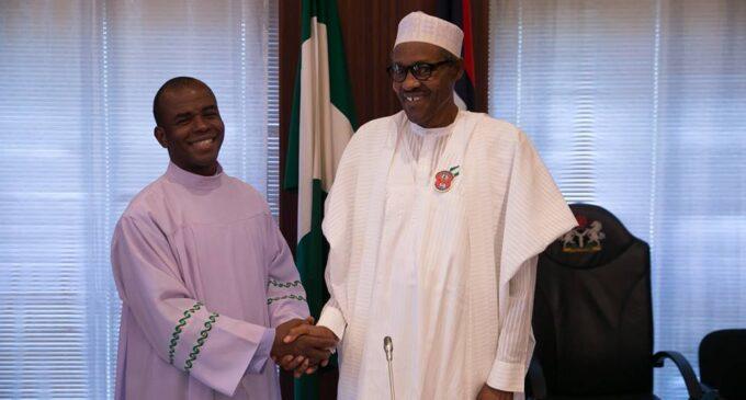 Buhari hosts Mbaka at Aso Rock