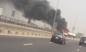 Petrol tanker catches fire on Lekki-Epe expressway