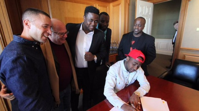 Davido signs mouthwatering $1m deal with Sony