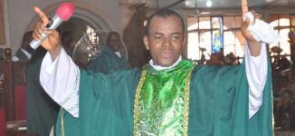 Mbaka present as Uzodinma is sworn in as Imo governor