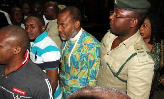 Like Metuh, Kanu brought to court in handcuff