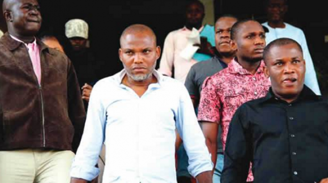 Masked witnesses 'can't testify against Kanu'